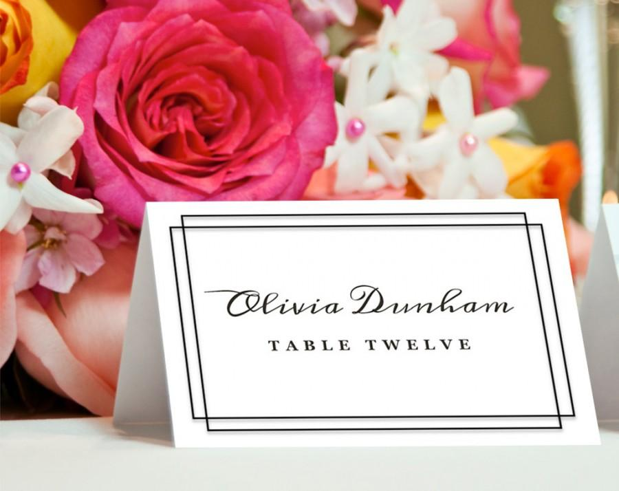 Wedding - Printable Place Card Template