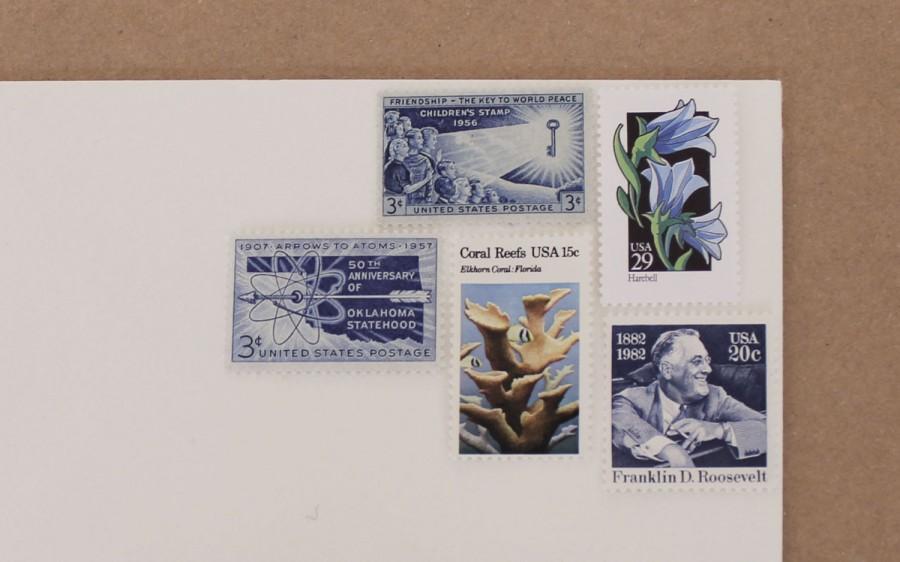 cent postage vintage envelope unused 3