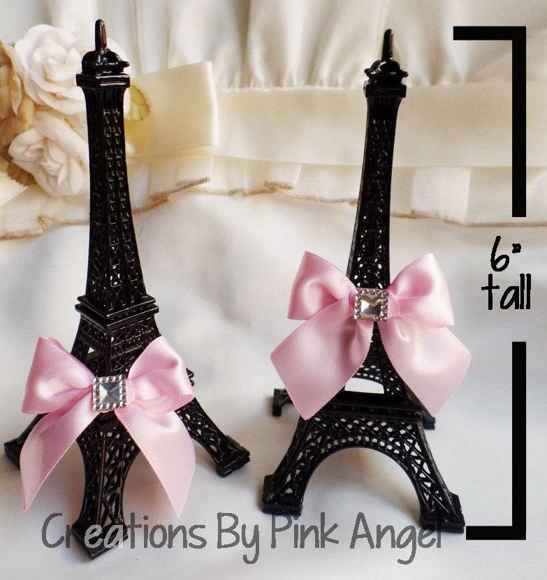 6 Eiffel Tower Cake Topper Paris Wedding Paris Baby Shower