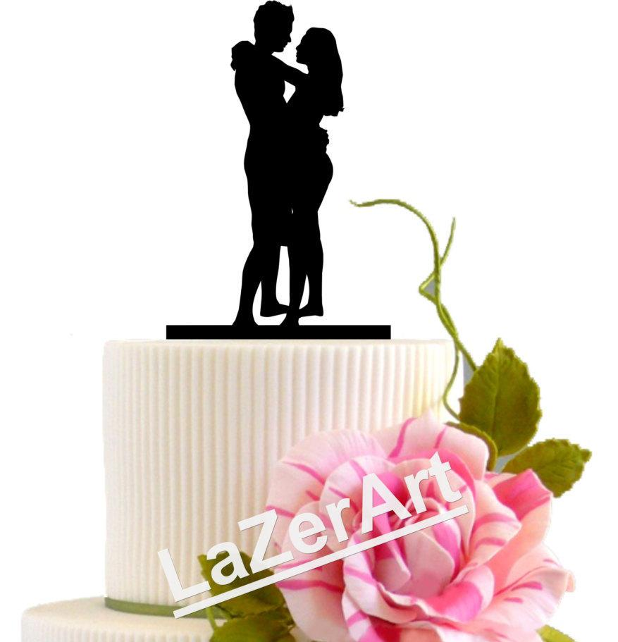 Mariage - Wedding Cake Topper First Night Groom and Bride