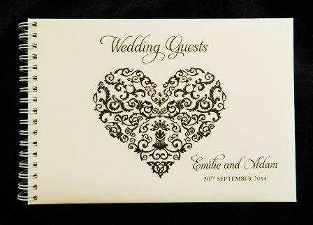 Mariage - Wedding Guest Book Filigree Heart
