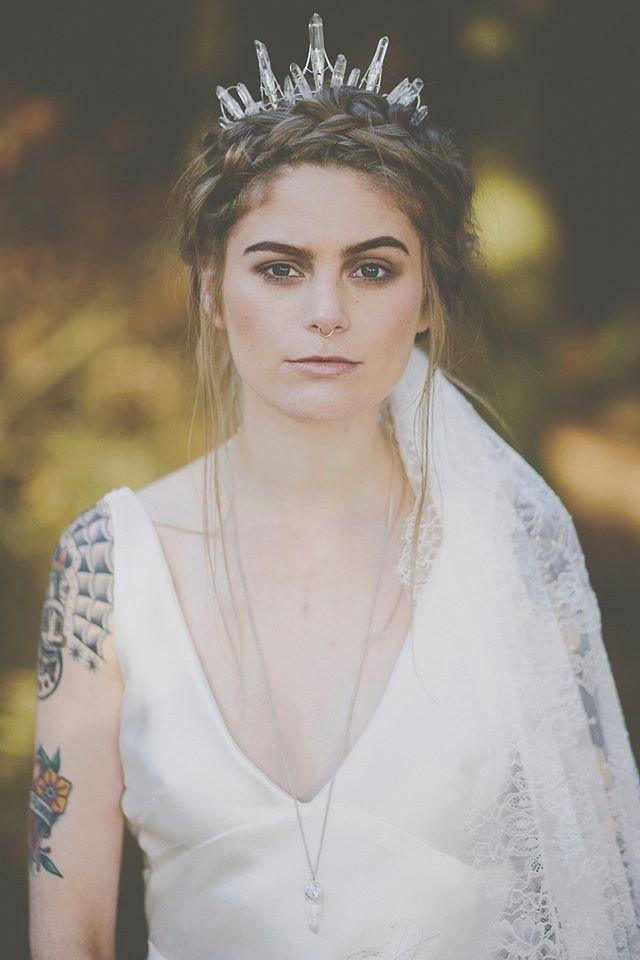Wedding - The STELLA Crown - Crystal Raw Quartz Crown Tiara - Magical Ethereal Unique Bridal Headpiece, Hair Accessory