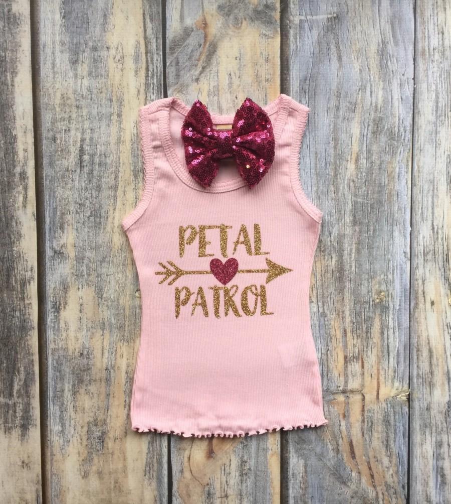 Flower Girl Shirt Flower Girl Dress Flower Girl Gift Petal Patrol