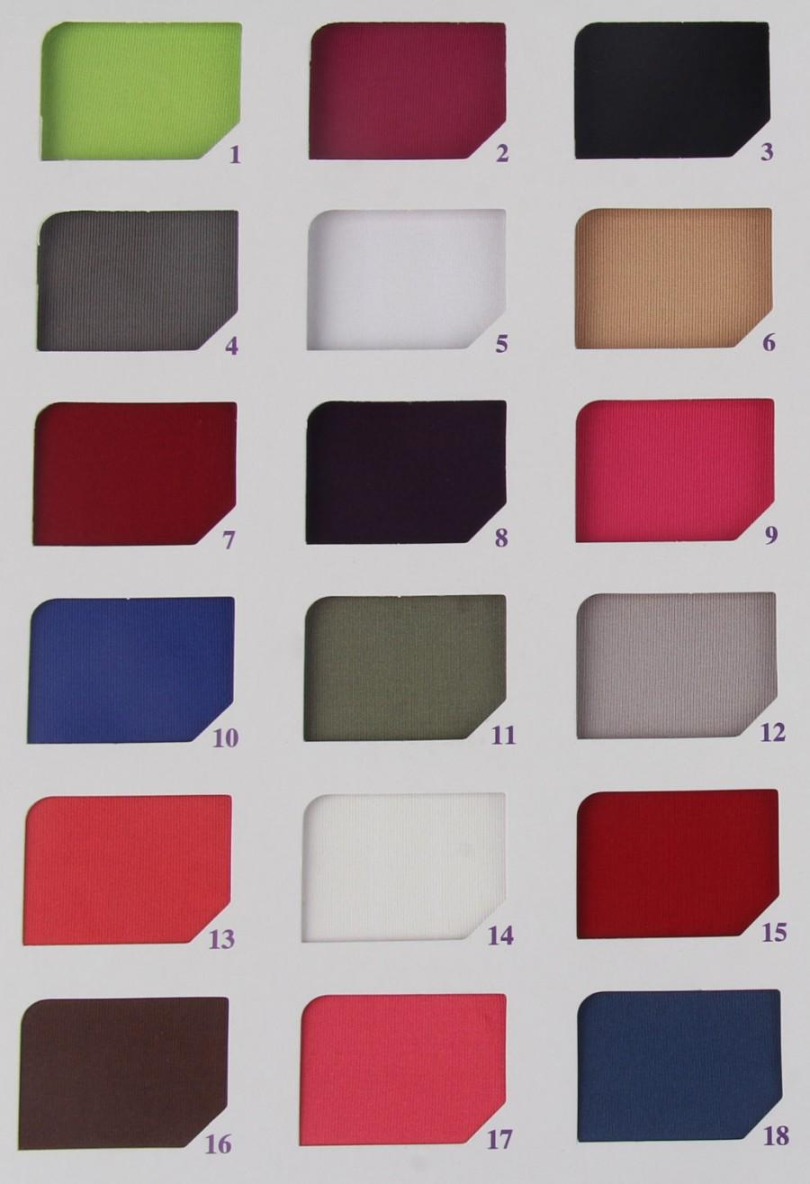 Color Swatches for Satin Fabric