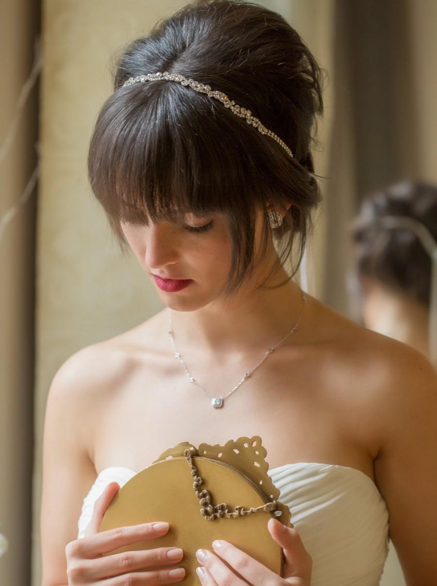 Mariage - H81 Crystal Bridal Headpiece, Bridal Headpiece, Bridesmaid Hair, Wedding Accessories, Rhinestone Headband, Bridal Hair Accessories, Wedding