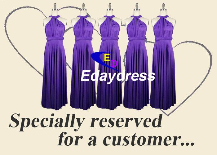 Mariage - Purple Full Length Long Infinity Wrap Convertible Bridesmaid Dresses For weddings or Any Occasion