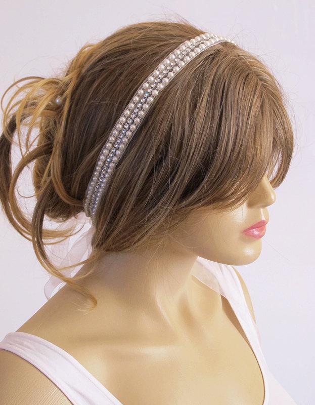 Mariage - Wedding headband, Bridal Headband, Headpiece, Bridal Hair Accessory, Wedding hair Accessory, Hairband, Bridal hair, Beadwork, bead, handmade