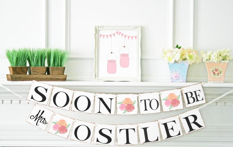 soon to be mrs banner bridal shower decorations bridal shower banner shabby chic bridal shower decor bachelorette party b101