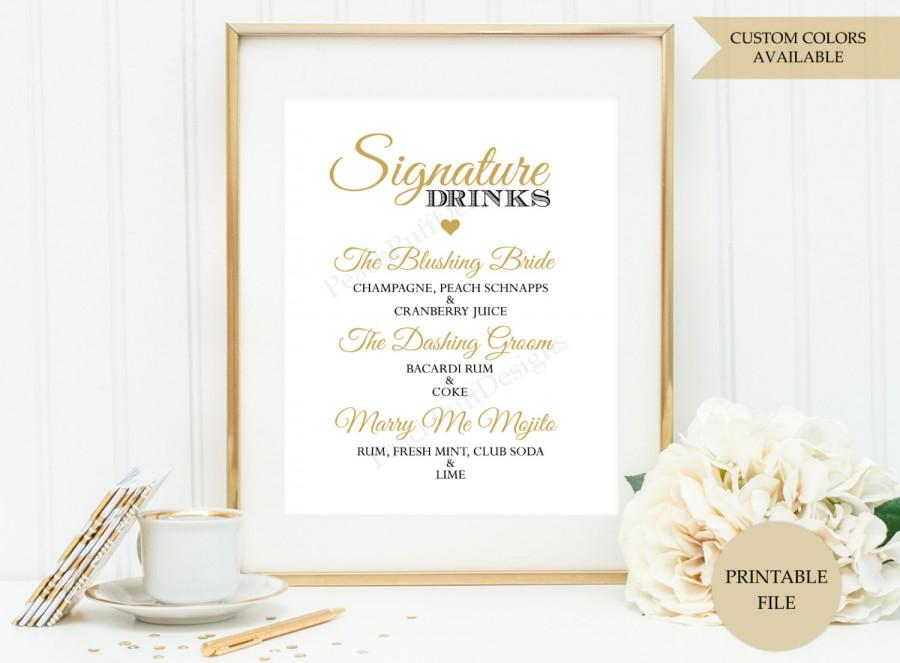 Signature drink sign printable file signature cocktail sign signature drink sign printable file signature cocktail sign wedding drink sign signature drink printable junglespirit Gallery