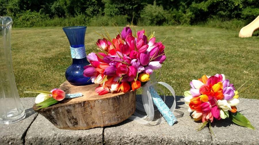 Wedding - Tulip Wedding Package- Traditional Wedding Bouquets- Art Deco style Wedding