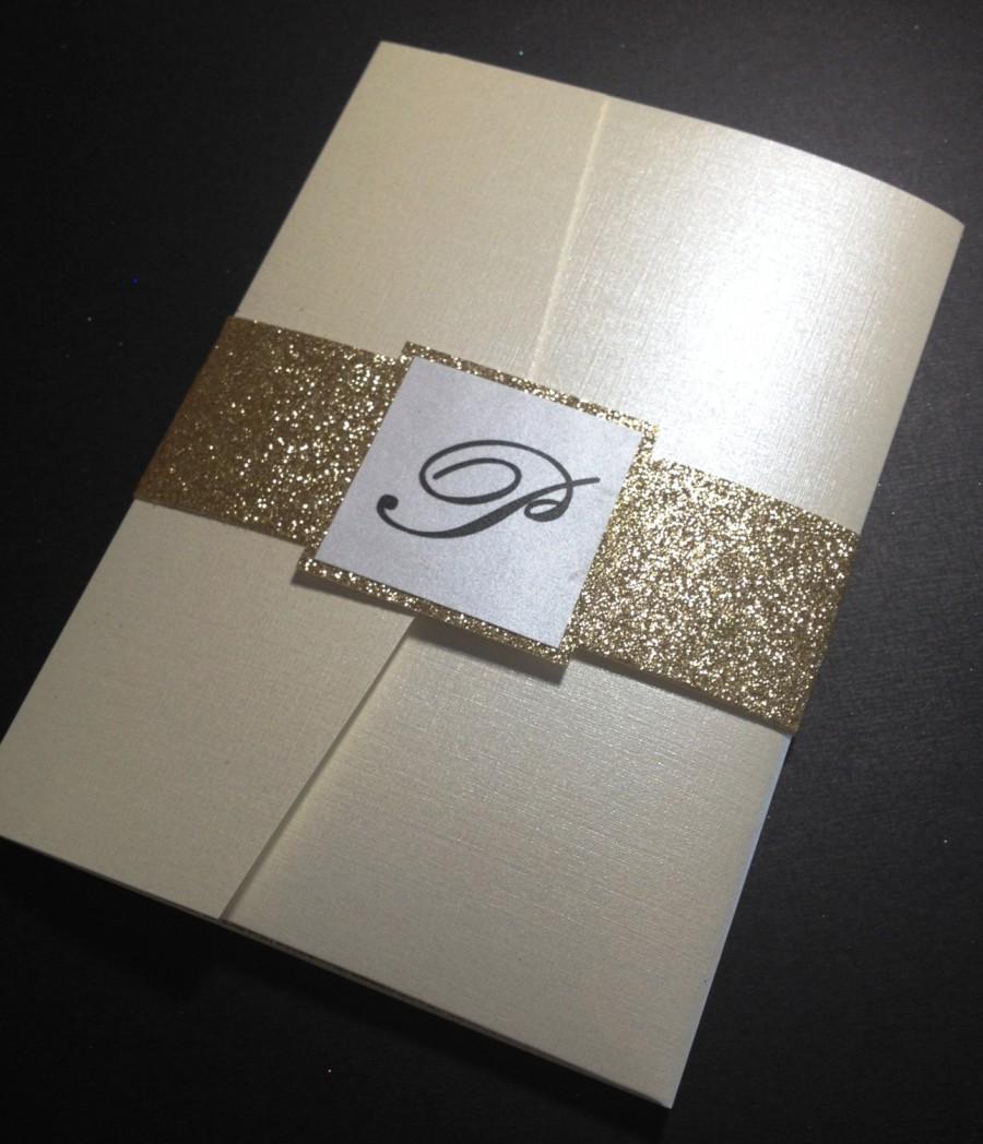 Wedding - Gold glitter Wedding Invitation Suite