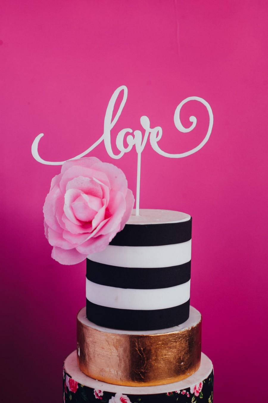 Valentine S Day Wedding Love Cake Topper Laser Cut Acrylic