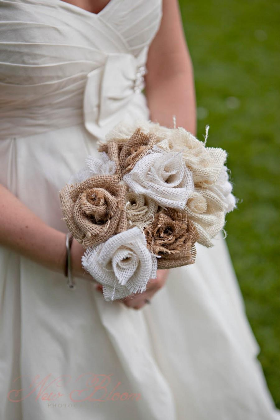 how to make burlap flower bouquets