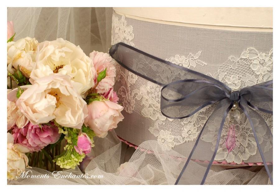 "Wedding - Urne mariage collection ""Nuage de dentelle """