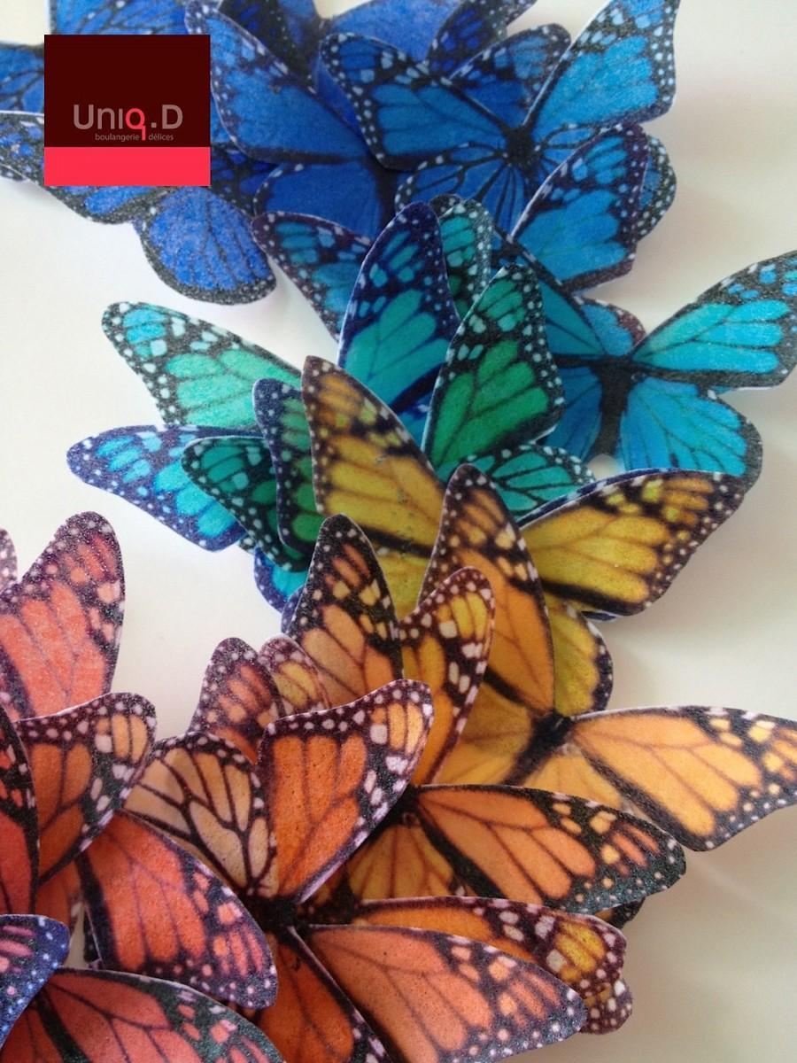 Свадьба - 100 rainbow edible butterflies - wedding favors - rainbow decoration - edible RAINBOW butterflies by Uniqdots on Etsy