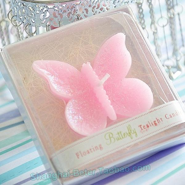 Wedding - Pink Butterfly Candles Bridesmaids Souvenir LZ032 decoration