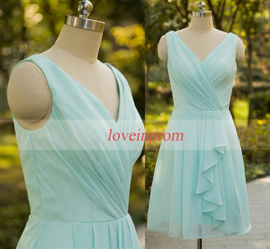 Wedding - 100% Handmade chiffon prom dress,mint green bridesmaid dress,wedding party dress,bridesmaid gown,party dress