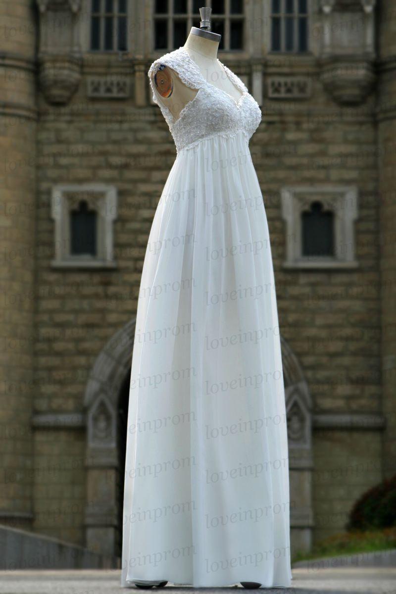 زفاف - White/ovory handmade lace wedding dress,cap sleeve wedding gowns ,long wedding dress,women long wedding dress/bridal gown