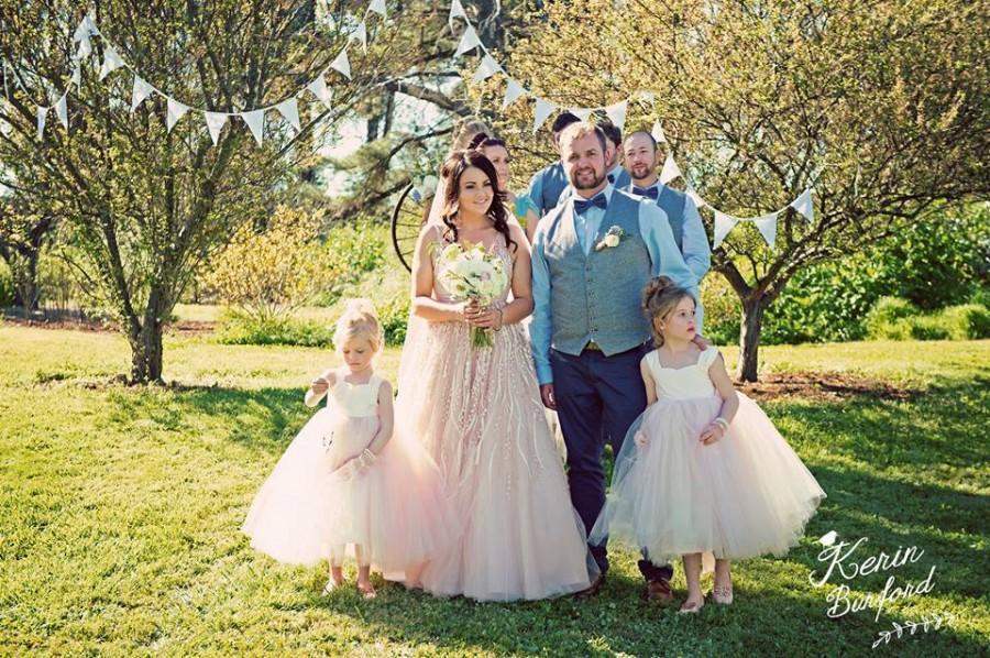 زفاف - Champagne Blush Pink Flower Girl Dress, Tulle Dress, Tutu Dress, Blush girls dress, Baby girls dress, party dress, girls frock, 2016 wedding