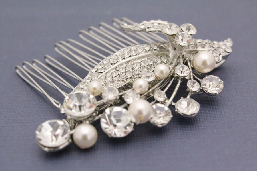 Mariage - Wedding hair jewelry bridal hair accessories wedding headpiece bridal accessory wedding hair comb bridal hair jewelry wedding comb pearl