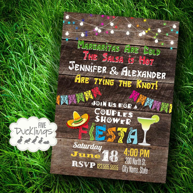 Fiesta Couples Shower Invitation Mexican Party Invite Printable