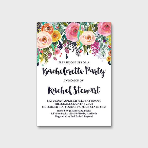 Bachelorette Party Invitation Printable Hens Night Invitation