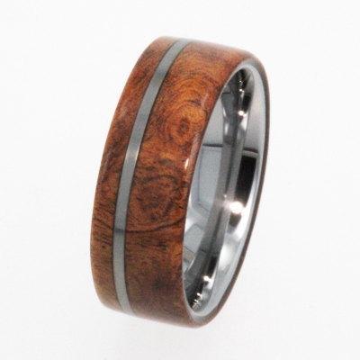 Свадьба - Tungsten Ring / Tungsten Wood Wedding Band / Wood Ring / Exotic Hard Wood - New1003