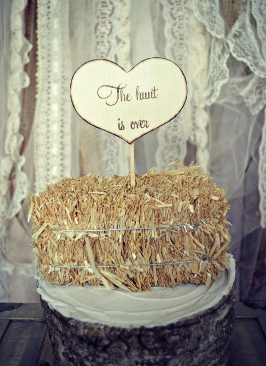 Hunting Wedding Cake Topper Sign Wedding Sign Hunting Themed Wedding