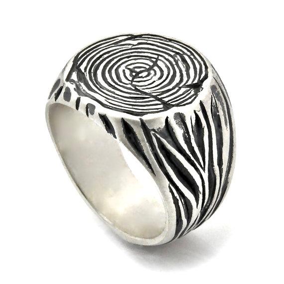زفاف - Men's Signet Ring, Nickel free silver, Sterling Silver Band, Sterling Silver Signet, Tribal Ring, Tree Ring, Nature inspired, RSIGs