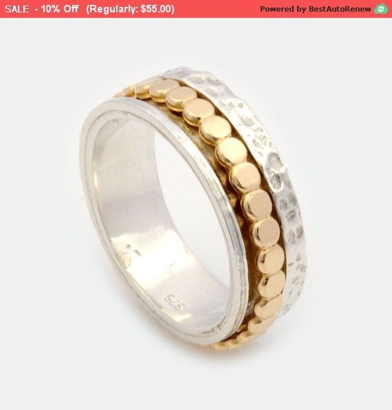 Unisex Spinner Ring Silver Spinner Ring Gold Spinner Ring