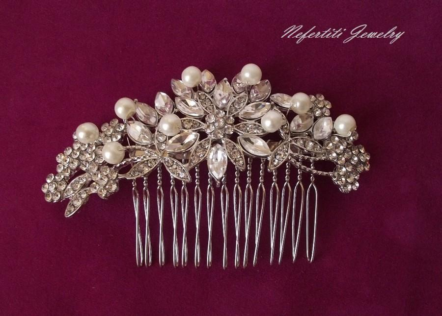 Mariage - bridal hair comb, pearl hair comb, wedding hair comb, vintage style bridal hair accessories, pearl wedding comb, bridal hair piece