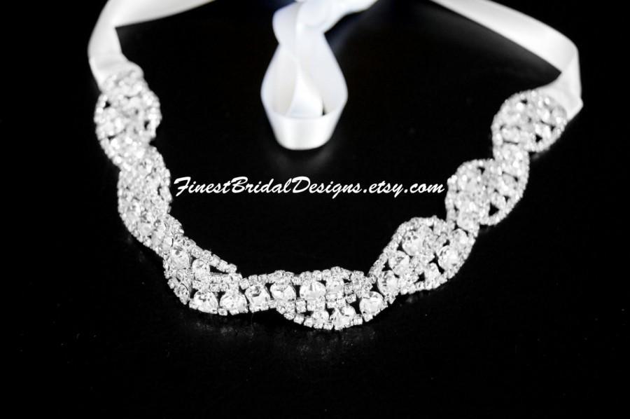 Mariage - Bridal RHINESTONES Headband, Bridal Headpiece, Rhinestone Headband, Crystal Bridal Headband, Bridal Headband, Wedding Headpiece