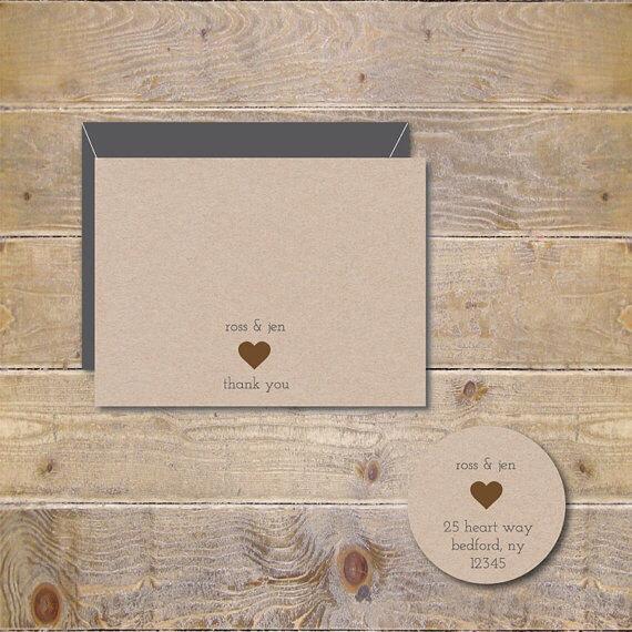 Wedding - Heart, Wedding Thank You Cards, Bridal Shower,  Thank You Cards, Hearts, Wedding, Rustic Weddings Cards, Heart Wedding Cards - Hearts