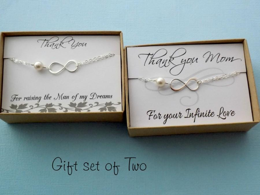 Mother Of The Bride And Groom Infinity Bracelet Gift Set Thank You Mom Eternity Mothers Day