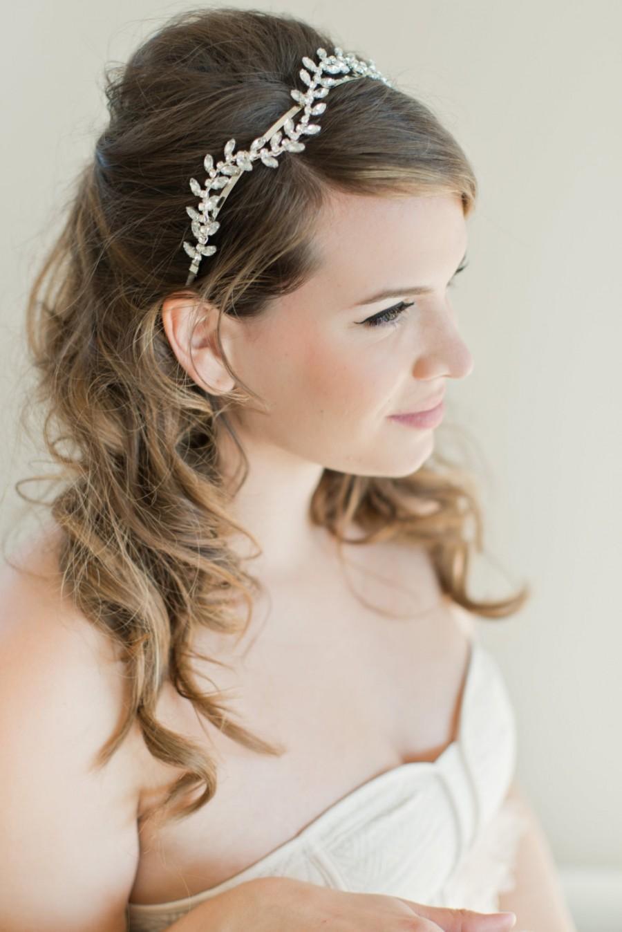 Wedding - Bridal Hairpiece, Bridal Headband, Bridal Hair Piece, Rhinestone Headband, Beaded Headband, Bridal Hair Vine, Bridal Headpiece, Bridal Hair