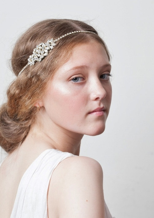 زفاف - 1920s Wedding Headpiece, Art Deco Bridal Headpiece, Art Nouveau Headpiece, gold headpiece, Great Gatsby, Downton Abbey, UK
