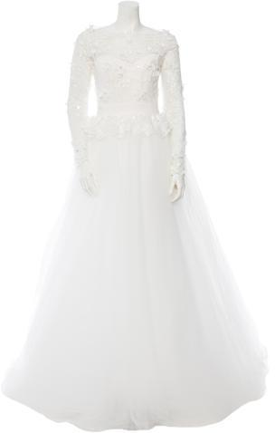 Wedding - Marchesa Embellished Lace Wedding Gown w/ Tags