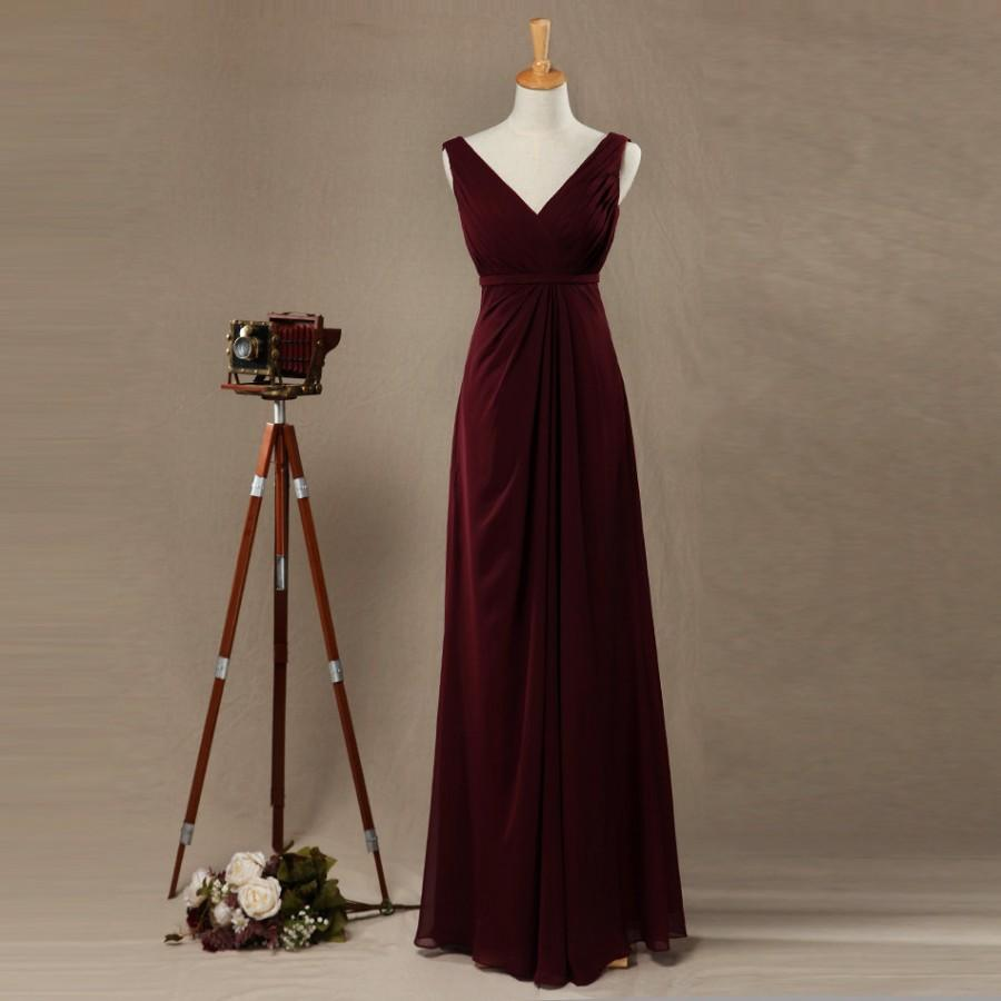 89bd3971478 2016 Burgundy Bridesmaid Dress