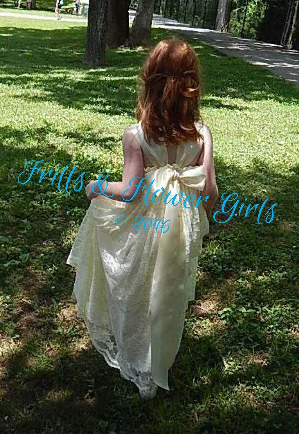 Boho Wedding Dress Size 18 : Boho flower girl dress ivory lace