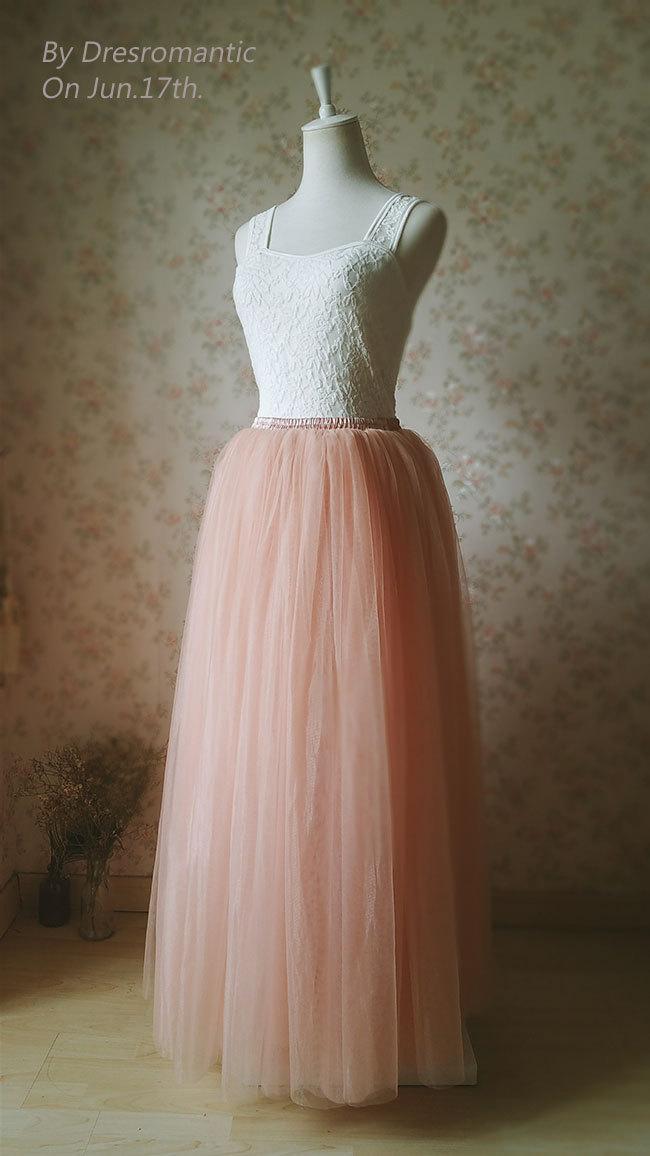 2016 blush tulle skirt floor length tulle skirt