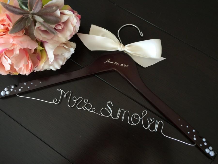 Mariage - Rush order, bridal hanger, wedding hanger, bride gift, wire hanger, name hanger
