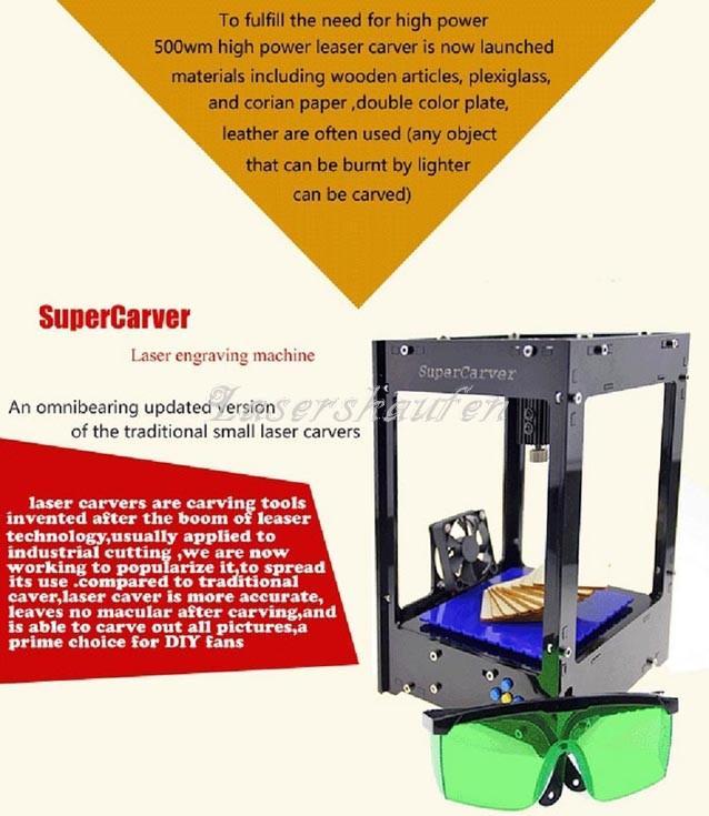 Wedding - Laser Graviermaschine Miniatur 500mW Laser Gravur-Maschine HTPOW