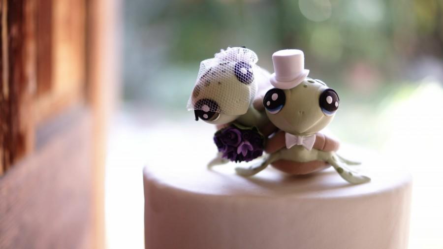 Decor - Turtle Wedding Cake Topper #2534906 - Weddbook