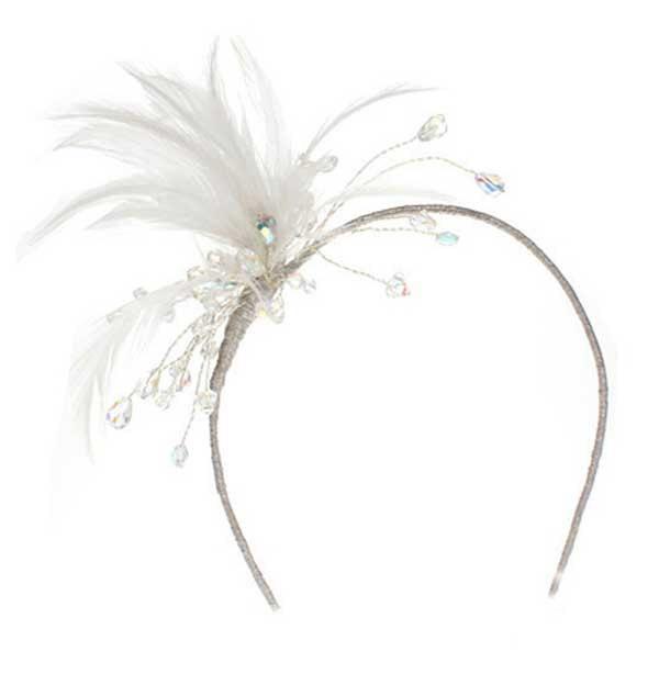 Swarovski Crystal Feather Headband Childrens Tiaras Headdresses Wedding Childs Tiara