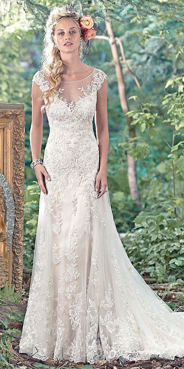 Hochzeit - Maggie Sottero Vintage Lace Wedding Dress