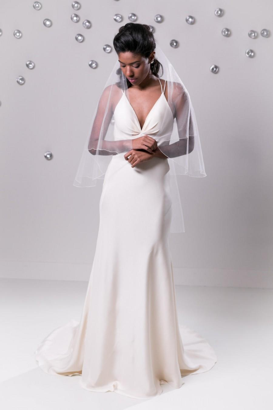 Backless Wedding Dress Old Hollywood Glamour Gown Silk Crepe Gown ...