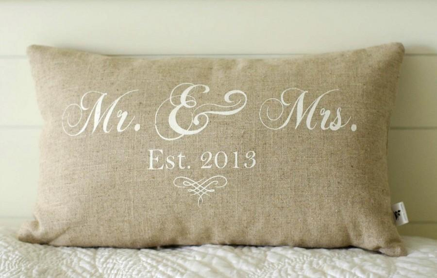 Mr And Mrs Pillow Cover 40x40 Lumbar Choice Of Black Or Vintage Stunning Mr And Mrs Pillow Covers