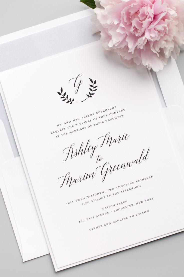 Invitation Wreath Monogram Wedding Invitations 2535297 Weddbook