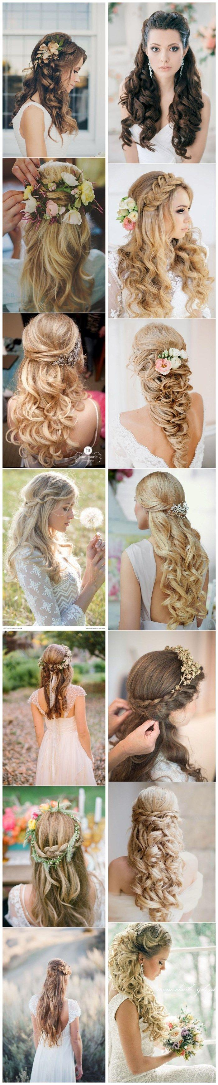 Mariage - 40 Stunning Half Up Half Down Wedding Hairstyles With Tutorial