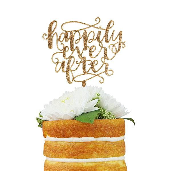 Mariage - Happily Every After Cake Topper